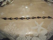 19 INCH BROWN BEAD AND FRESH WATER PEARL NECKLACE....JUST BEAUTIFUL