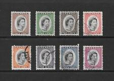 1953 Queen Elizabeth II SG192 short set to SG219 of 8 stamps Used GRENADA