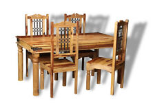 JALI LIGHT SHEESHAM FURNITURE 160CM DINING TABLE AND 4 JALI CHAIRS (J41L)