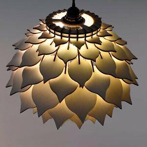 Wood Pendant Light / Wooden Lamp Shade / Hanging Modern Lamp / Light Fixturure