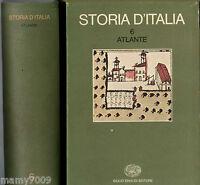 Storia d'Italia. vol VI Atlante Edizione Einaudi 1976
