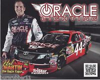 "2013 HAL MARTIN ""ORACLE LIGHTING"" #44 NEW NASCAR NATIONWIDE SERIES POSTCARD"