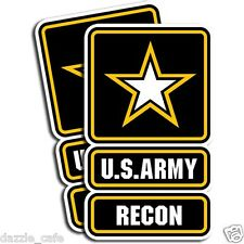 US Army RECON Sticker Sniper Military Veteran Die Cut Decal 2 Pack 5 inch tall