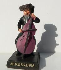 Figurine Jewish Hasidic Klezmer Plays Cello, Kleizmer Music Hassidic w/Shtreimel