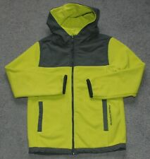 Boys Aeropostale PS Activate Fleece Hooded Jacket - Neon Green Size Youth 10 (M)