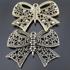 8pcs Antique Bronze Alliage Noeud Charms Pendentif CONNECTEURS fabrication de bijoux