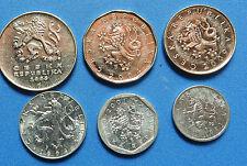 A Rare set of  6 Coins of Czech Republic