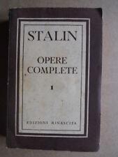 STALIN -Opere complete  volume 1 Edizioni Rinascita 1950   [OGL]