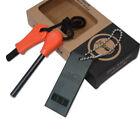 Camping Steel Flint Stone Rod Fire Starter Lighter Magnesium Survival Tool Kit
