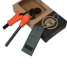 Camping Steel Flint Stone Rod Fire Starter Lighter Magnesium Survival Tool Kit