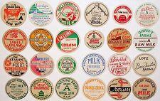 Vintage milk bottle caps LOT OF 24 DIFFERENT originals #6 unused new old stock
