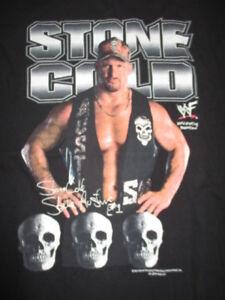 """Vintage TNT Label - 2001 WWF """"STONE COLD"""" STEVE AUSTIN (XL) Muscle T-Shirt"""