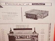1967 FORD MUSTANG THUNDERBIRD GALAXIE 500 CONVERTIBLE AM-FM RADIO SERVICE MANUAL
