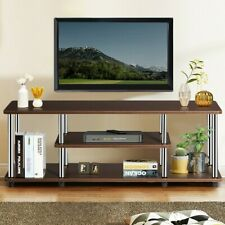 Entertainment Center TV Stand Media Cabinet Table Rack Shelves Console Brown New