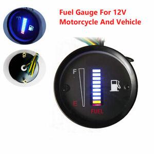 2inch 52mm 10LED Fuel Level Meter Digital Gauge For 12V Car Motorcycle
