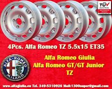 4 Cerchi Alfa Romeo Giulia TI TZ Giulietta 5.5x15 ET35  Wheels Felgen jantes TUV