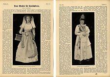 Festtrachten und Bauernkostüme Südtirol  Campitello u.a. von 1900