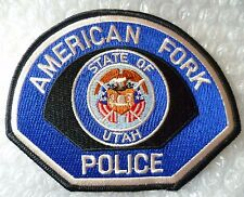 Patch- American Fork State o Utah US Police Patch (NEW*)
