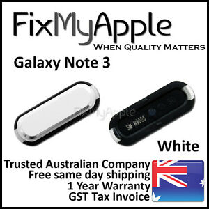 Samsung Galaxy Note 3 N9005 N9000 OEM White Home Button Main Keypad Replacement