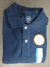 Wonder Nation Young Boy School Uniform Short Sleeve Polo Blue Shirt Xxl/2Xg 18