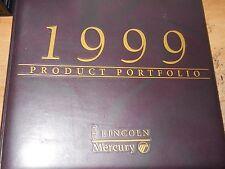 1999 LINCOLN CONTINENTAL TOWN CAR LS NAVIGATOR DEALER PRODUCT PORTFOLIO ALBUM