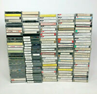 Lot of 142 Pre-recorded Cassette Tapes Various Artists - Sold As Blank