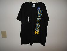 NEW Navy Michigan Wolverines Football T Shirt Mens NCAA Go Blue Large NWT