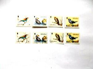 GIBRALTAR: 1988  Birds Two sets of 4 stamps U/M & VFU Sg596/99