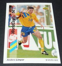 ANDERS LIMPAR SVERIGE FOOTBALL CARD UPPER DECK USA 94 PANINI 1994 WM94