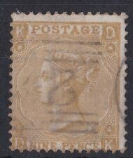 GB713) Great Britain 1865/7 Queen Victoria 9d Straw, thick paper SG 98a