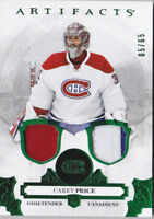 17-18 Artifacts Carey Price /65 Jersey Patch EMERALD Canadiens 2017