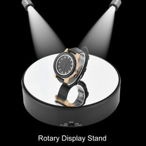 360° Rotating Electric Turntable Display Stand Jewelry Photography Show Holder