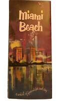 "c. 1950s Rare Vintage Miami Beach Florida Travel Brochure Map ""Fun for All"""