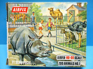 AIRFIX S24-59 1/72 ZOO ANIMALS SET NUMBER ONE 1966 1st EDITION BLUE BOX EXC RARE