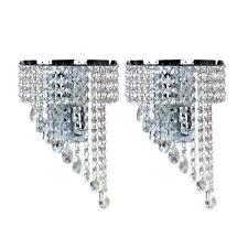 2 Stück Modern K9 Kristall Wandleuchten E14 Fashion Wandlampe Flur Treppe Hotels