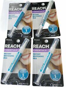 4 X Reach Essentials Tooth Teeth Whitening Pen Instant Stain Gel Bleaching NEW