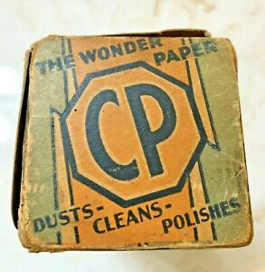 CP The Wonder Paper Dusts Cleans Polishes Original Box And Contents