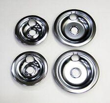 Range Burner Pan Bowl Set for Frigidaire 2 of 316048414 2 of 316048413 Chrome