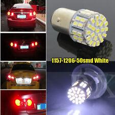 1x Car 1157 BAY15D P21/5W 50 SMD LED White Stop Tail Brake Light Lamp Bulb 200LM