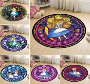 Anime Alice in Wonderland Carpet Doormat Non-slip Mat Decoration Circle Ornament