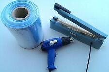 Shrink wrap kit 30cm sealer, 26cm film, heat gun for packing DVDs, soap ..etc