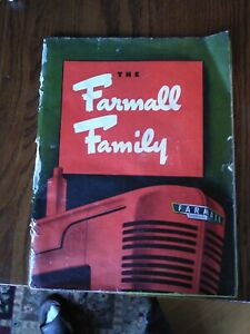 VINTAGE 1940 FARMALL TRACTOR  CATALOG!  Rough cover. Great pictures& info inside