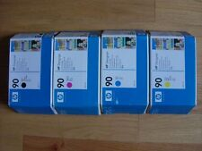 GENUINE SET 4 HP #90 C5058A C5061A C5063A C5065A CARTRIDGES DESIGNJET 4000 4500