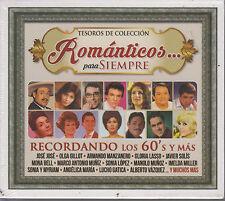 CD - Romanticos Para Siempre NEW Tesoros De Coleccion 3 CD's FAST SHIPPING !