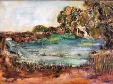 RINA EFRONI , Large Original Oil on Canvas, Landscape, Signed & Dated 1969