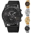 Men's Akribos XXIV AK813 Swiss Chronograph Date Stainless Steel Mesh Watch