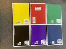 Pen + Gear 1 Subject College Rule Spiral Bound Notebook 70 Pages Per Notebook.