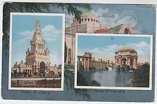 1915 SAN FRANCISCO EXHIBITION - Tower of Jewels / Palace of Arts - used postcard