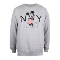 Disney Mickey Mouse Ladies Clothing - New York Sweatshirt - Light Grey