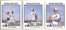 1987 Pro Cards 29-card Burlington Expos Minor League Team Set Sal Vaccaro